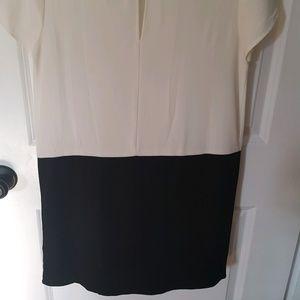 Forever 21 Dresses - Forever 21 White/Black Shift Dress